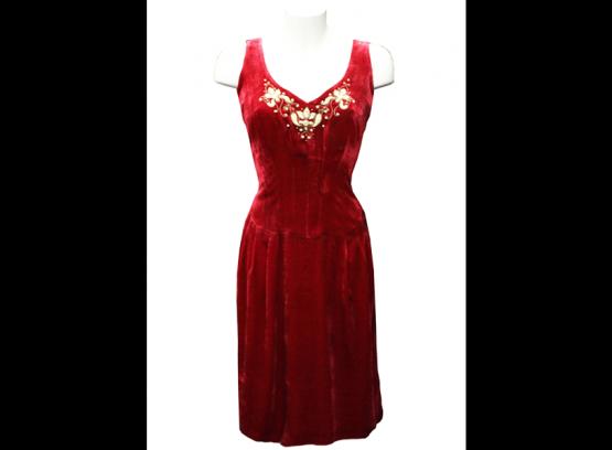 Платье вышитое в технике «Золотого шитья»
