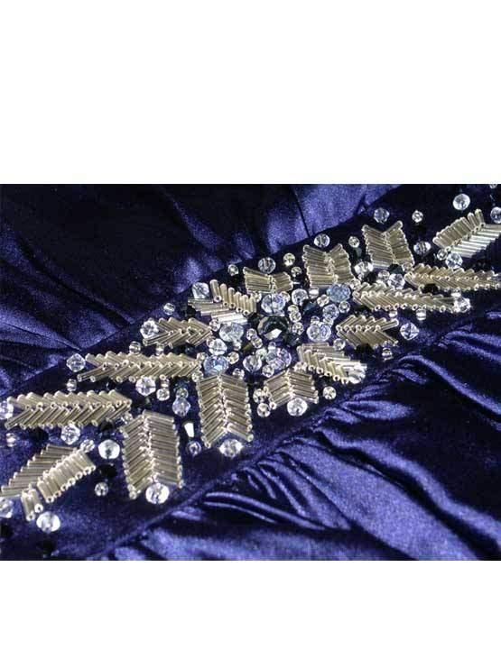 Платье вышитое горным хрусталем, бисером и стеклярусом